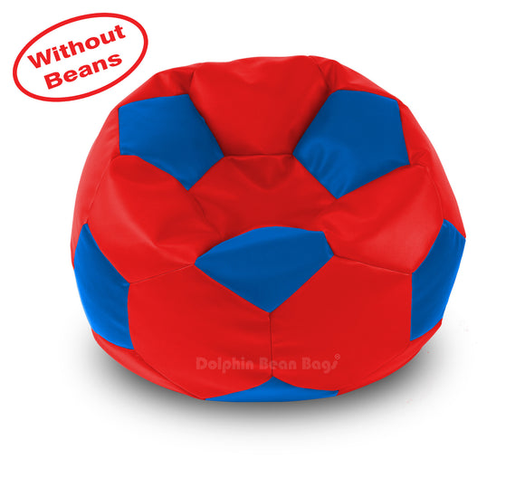 DOLPHIN XXL FOOTBALL BEAN BAG-BLUE/RED-COVER (Without Beans)