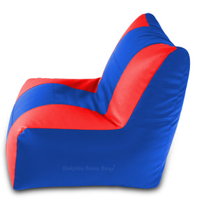 DOLPHIN XXL RECLINER BEAN BAG-BLUE/RED-FILLED (With Beans)