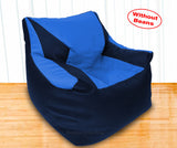 DOLPHIN XXL Beany Chair N.Blue/R.Blue-Cover (Without Beans)