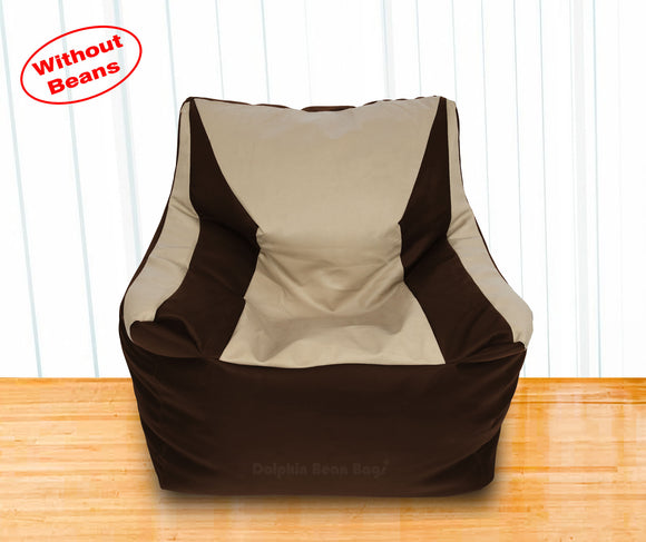 DOLPHIN XXL Beany Chair Brown/Beige-Cover (Without Beans)