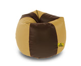 DOLPHIN XXL BROWN&BEIGE BEAN BAG-FILLED(With Beans)