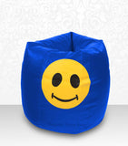 DOLPHIN XXL Bean Bag R.Blue-Smiley-FILLED (with Beans)