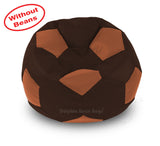 DOLPHIN XXL FOOTBALL BEAN BAG-BROWN/TAN-COVER (Without Beans)