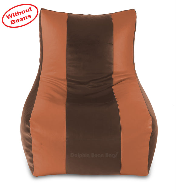 DOLPHIN XXL RECLINER BEAN BAG-BROWN/TAN-COVER (Without Beans)