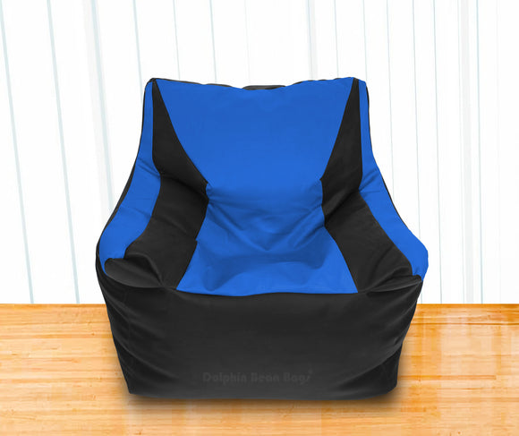 DOLPHIN XXL Beany Chair Black/R.Blue-Filled (With Beans)
