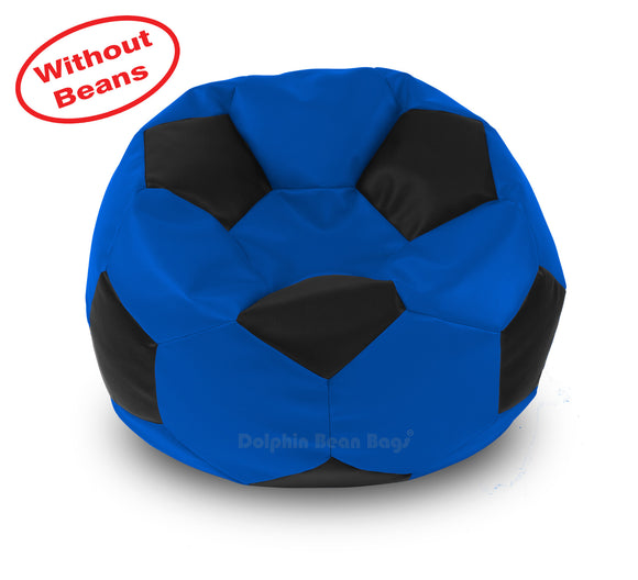 DOLPHIN XXL FOOTBALL BEAN BAG-BLACK/BLUE-COVER (Without Beans)