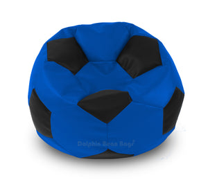 DOLPHIN XXL FOOTBALL BEAN BAG-BLACK/N.BLUE-Filled (With Beans)