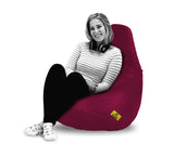 DOLPHIN XXL BEAN BAG-MAROON - Filled (With Beans)