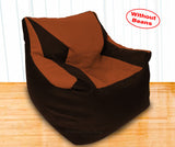 DOLPHIN XXL Beany Chair Brown/Tan-Cover (Without Beans)