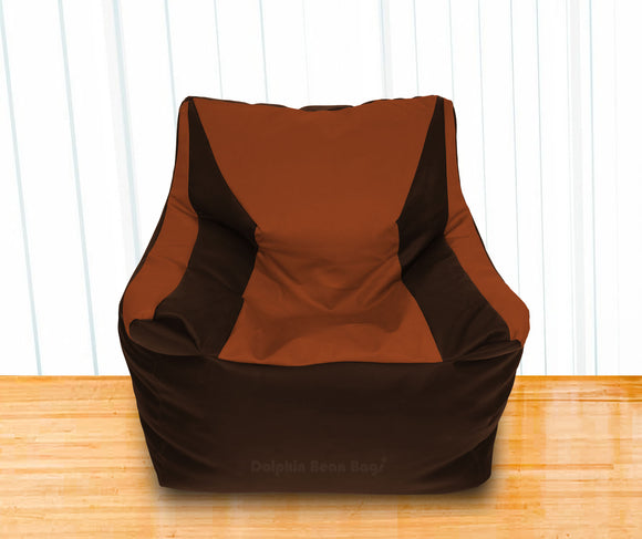 DOLPHIN XXL Beany Chair Brown/Tan-Filled (With Beans)