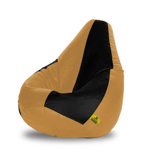 DOLPHIN XXL BLACK&FAWN BEAN BAG-FILLED(With Beans)