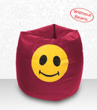 DOLPHIN XXL Bean Bag Maroon-Smiley-COVERS(without Beans)