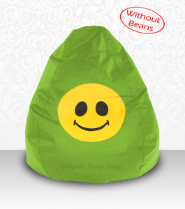 DOLPHIN XXL Bean Bag F.Green-Smiley-COVERS(without Beans)