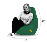 DOLPHIN XXL BEAN BAG-Bottle Green (With Beans)