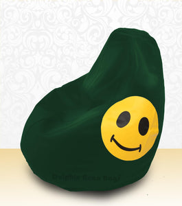 DOLPHIN XXL Bean Bag B.Green-Smiley-FILLED (with Beans)