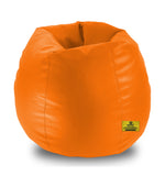 DOLPHIN XXL BEAN BAG-ORANGE - FILLED (With Beans)