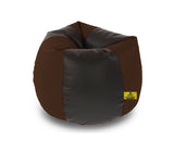 DOLPHIN XXL BLACK&BROWN BEAN BAG-FILLED(With Beans)