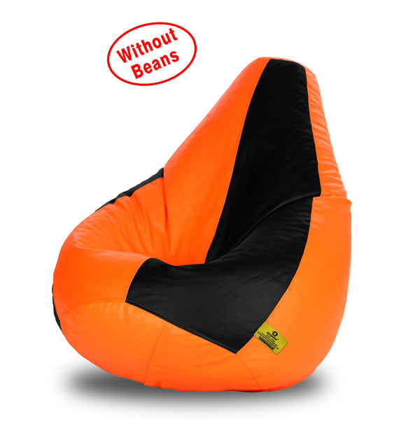 DOLPHIN XXL BLACK&ORANGE BEAN BAG-COVERS(Without Beans)