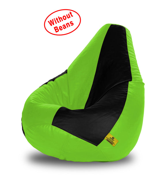 DOLPHIN XXL BLACK&F.GREEN BEAN BAG-COVERS(Without Beans)