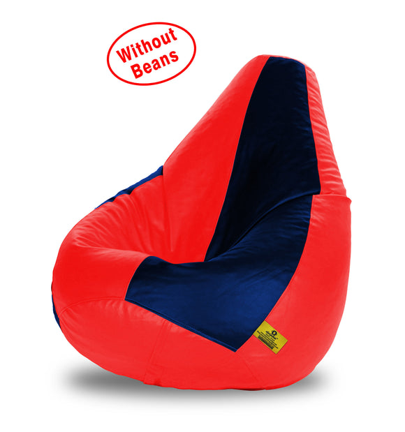 DOLPHIN XXL RED&NAVY BLUE BEAN BAG-COVERS(Without Beans)