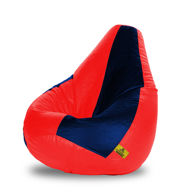 DOLPHIN XXL RED & NAVY BLUE BEAN BAG-FILLED(With Beans)
