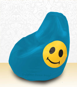 DOLPHIN XXL Bean Bag Turquoise-Smiley-FILLED (with Beans)