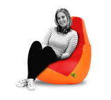 DOLPHIN XXL RED&ORANGE BEAN BAG-FILLED(With Beans)