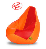 DOLPHIN XXL RED&ORANGE BEAN BAG-COVERS(Without Beans)
