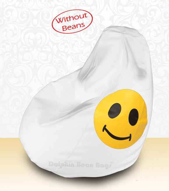 DOLPHIN XXL Bean Bag White-Smiley-COVERS(without Beans)