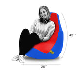 DOLPHIN XXL RED&R.BLUE BEAN BAG-FILLED(With Beans)