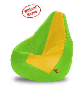 DOLPHIN XXL F.GREEN&YELLOW BEAN BAG-COVERS(Without Beans)