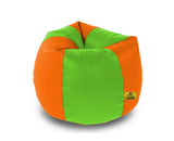 DOLPHIN XXL F.GREEN&ORANGE BEAN BAG-FILLED(With Beans)