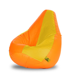 DOLPHIN XXL ORANGE&YELLOW BEAN BAG-FILLED(With Beans)
