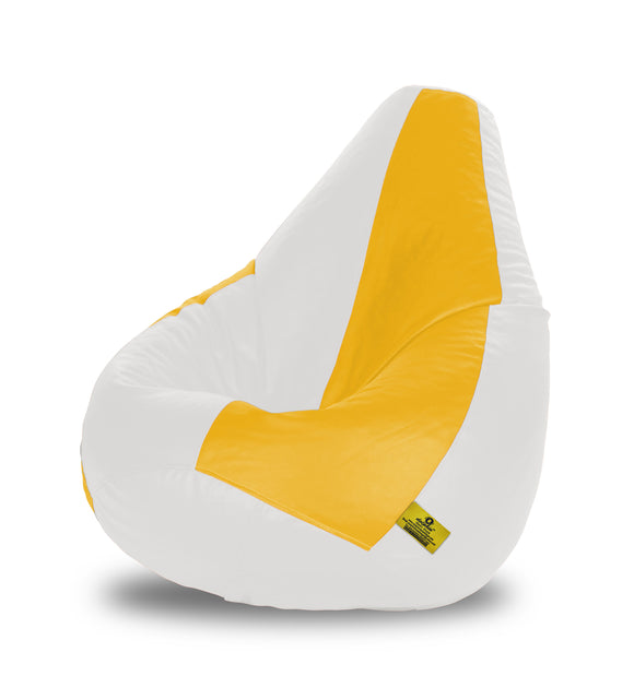 DOLPHIN XXL WHITE&YELLOW BEAN BAG-FILLED(With Beans)
