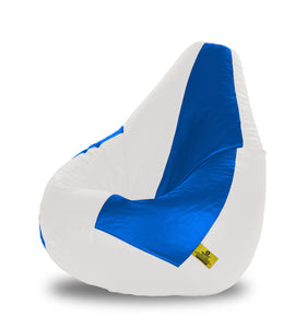 DOLPHIN XXL WHITE&R.BLUE BEAN BAG-FILLED(With Beans)
