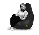 DOLPHIN XXXL BEAN BAG-BLACK (With Beans)