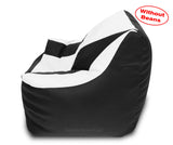 DOLPHIN XXXL Beany Chair Black/White-Cover (Without Beans)