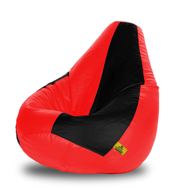 DOLPHIN XXXL BLACK & RED BEAN BAG-FILLED(With Beans)