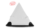 Dolphin Jumbo Pyramid Bean Bags-BLACK / WHITE-Cover (without Beans)