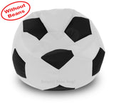 DOLPHIN XXXL FOOTBALL BEAN BAG-BLACK/WHITE-COVER (Without Beans)