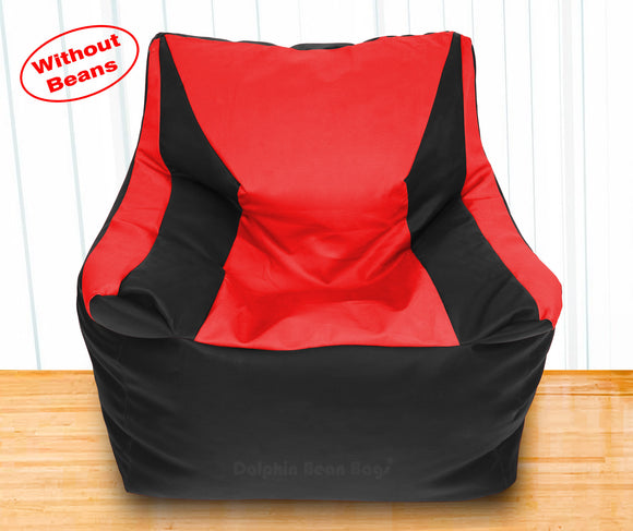 DOLPHIN XXXL Beany Chair Black/Red-Cover (Without Beans)