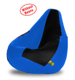 DOLPHIN XXXL BLACK&R.BLUE BEAN BAG-COVERS(Without Beans)