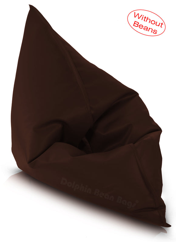 Dolphin Jumbo Sack Bean Bags-BROWN-Cover (without Beans)