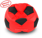 DOLPHIN XXXL FOOTBALL BEAN BAG-BLACK/RED-COVER (Without Beans)