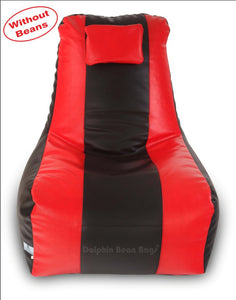 DOLPHIN XXXL RECLINER BEAN BAG-BLACK/RED-COVER (Without Beans)