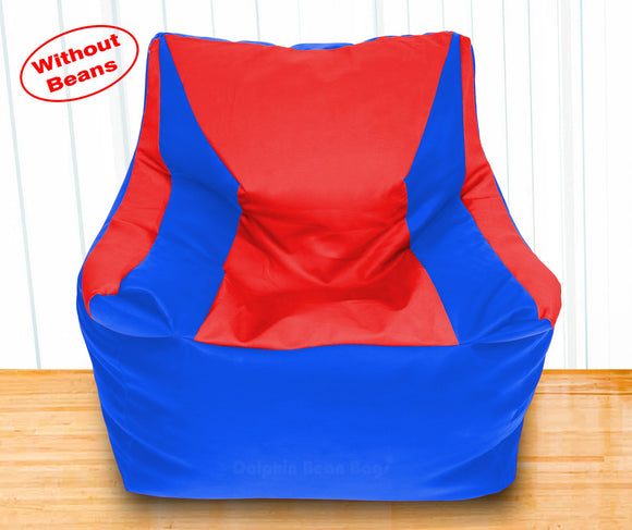 DOLPHIN XXXL Beany Chair R.Blue/Red-Cover (Without Beans)