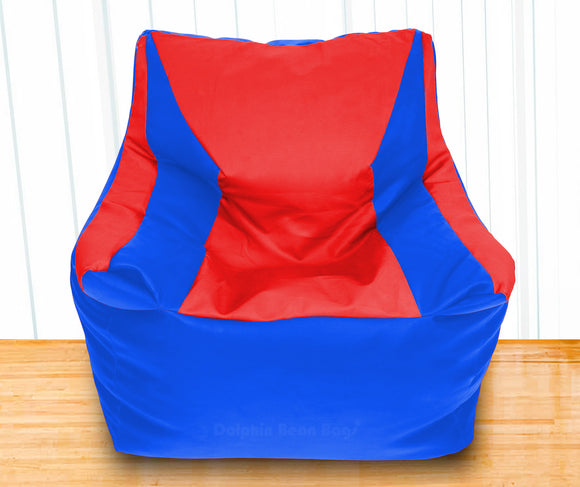 DOLPHIN XXXL Beany Chair R.Blue/Red-Filled (With Beans)