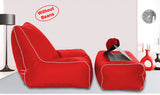 Dolphin Gamer Bean Bag with Footrest Red-Covers (Without Beans)