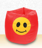 DOLPHIN XXXL Bean Bag Red-Smiley-FILLED (with Beans)