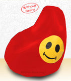 DOLPHIN XXXL Bean Bag Red-Smiley-COVERS(without Beans)